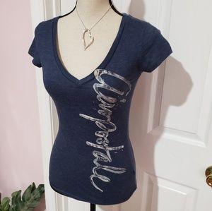 AEROPOSTALE blue V neck tshirt